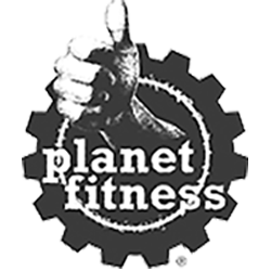 Planet Fitness logo in MOK Capital Advisors grey palette